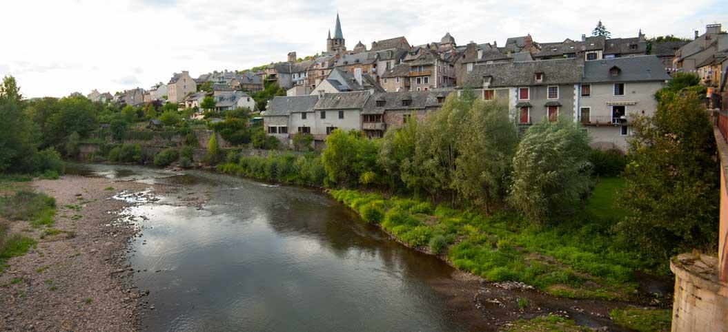 Le Lot à Saint-Côme-d'Olt en Aveyron